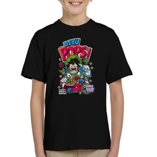 (X-Small (3-4 yrs)) Deku Pops My Hero Academia Cereal Kid's T-Shirt
