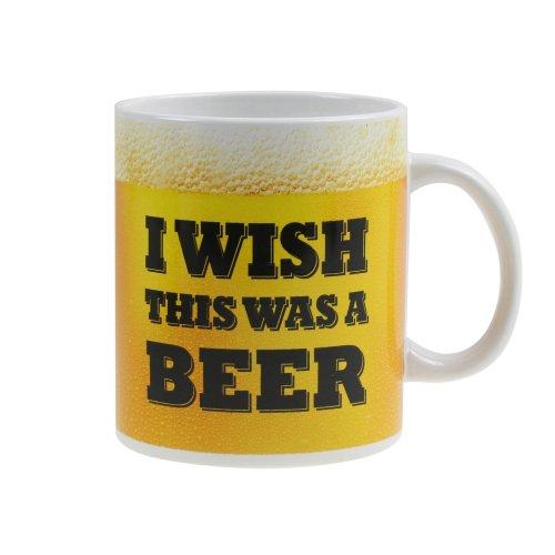 I Wish This Was A Beer Large Design Caption Coffee Tea Ceramic Drinking Mug