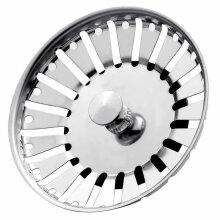 Stainless Steel Kitchen Sink Strainer Plug Drain Strain 84mm UK