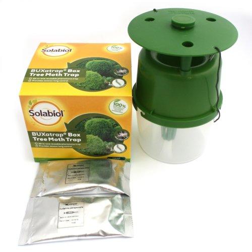 Solabiol BUXatrap Box Tree Moth Trap & 2 Pheromone Lure Reusable Glue Free Trap
