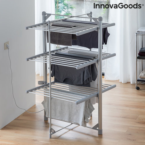 Folding Electric Clothesline Indryer InnovaGoods (36 Bars) 300W