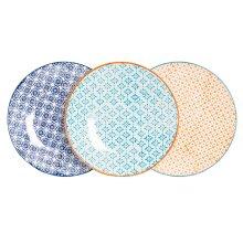 Patterned Dessert Side Wedding Porcelain Kitchen Plates - 3 Designs - 180mm x6