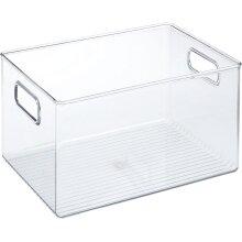 Storage Box with Handles Extra Large Plastic Kitchen Organiser Fridge Pantry