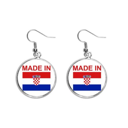Made In Croatia Country Love Ear Dangle Silver Drop Earring Jewelry Woman