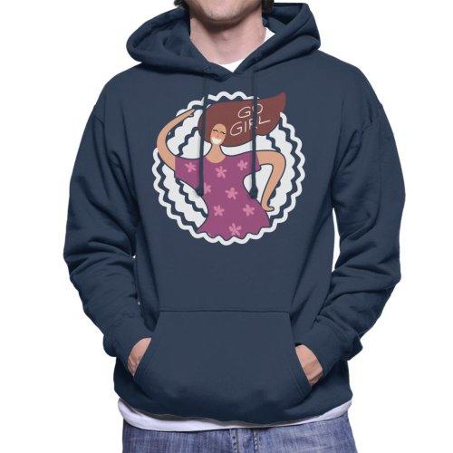 Go Girl Hair Text Men's Hooded Sweatshirt