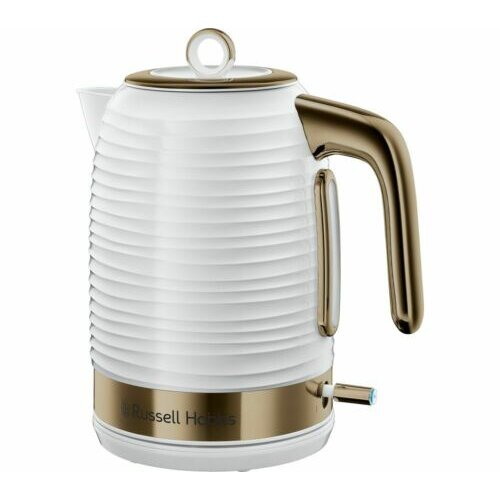 Russell Hobbs 24366 Inspire Brass Kettle White - Brand New