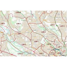 Postcode City Sector Map  - Leeds