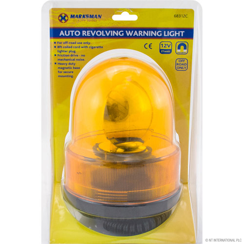 Car Breakdown Amber Flashing Revolving Orange Beacon Recovery Light Rotating 12V