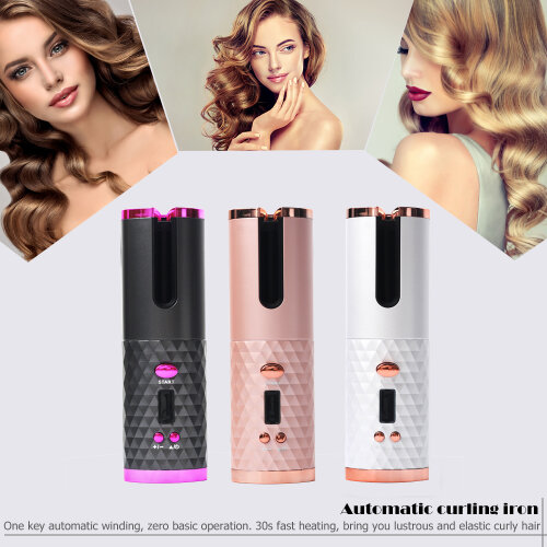 Automatic Hair Curler USB Recharge Ceramic Curly