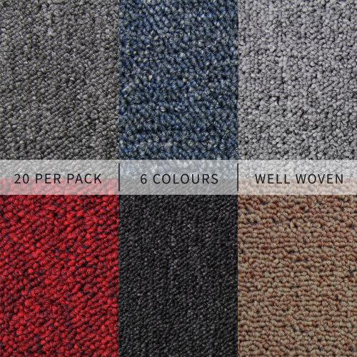 Carpet Tiles 20 Pack 5 Square Metres Flooring