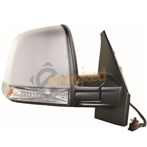 Fiat Doblo Mk2 2010-> Electric Primed Wing Mirror Single Glass Drivers Side