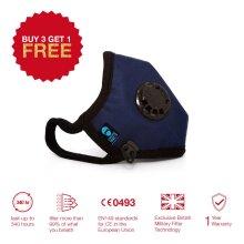 Face Mask, Respirators, Reusable, 3 Layer, Blue