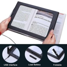 Large Magnifying Glass With LED Light Magnifier Giant Reading sewing