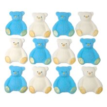 12 Edible Coloured Teddies Cupcake Toppers Cake Decorations