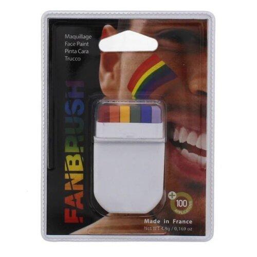 Unisex Gay Pride Rainbow Stripe Face Paint Roll On Fancy Dress