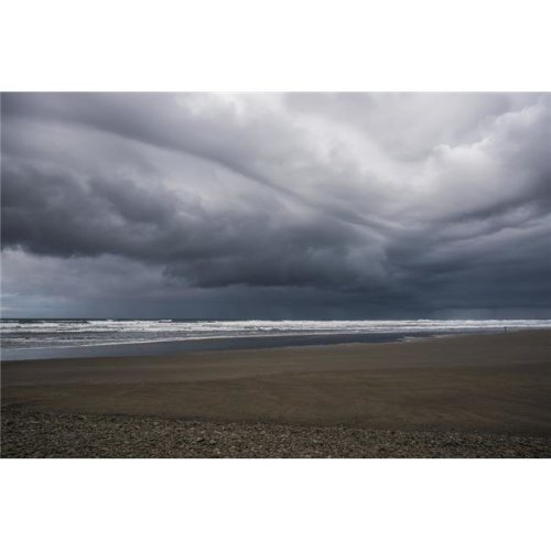 Storm Clouds Loom Over The Beach - Seaside Oregon United States of America Poster Print - 38 x 24 in. - Large