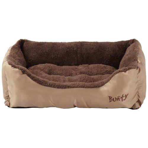 (Cream, Large) Bunty Deluxe Dog Bed | Soft Fleece Pet Bed