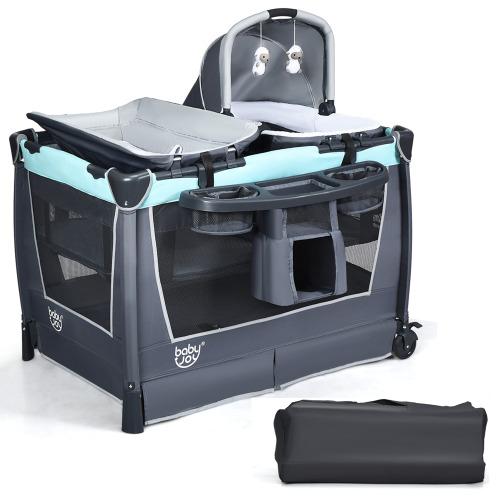 4 in 1 Convertible Playpen Portable Baby Playard