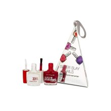 Maybelline Super Slay Nails Forever Strong Nail Colour Deep Red 10ml 3D Gel Effect Top Coat 10ml