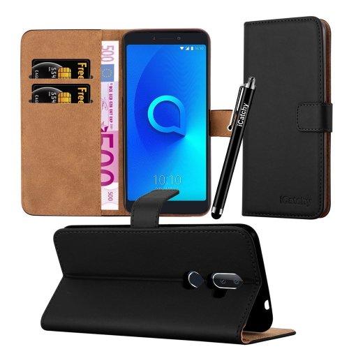 For Alcatel 3V Premium Leather Wallet Case Cover