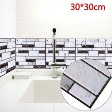 10pcs 3D Wall Tile Stickers Kitchen Bathroom Mosaic Self-adhesive Dec
