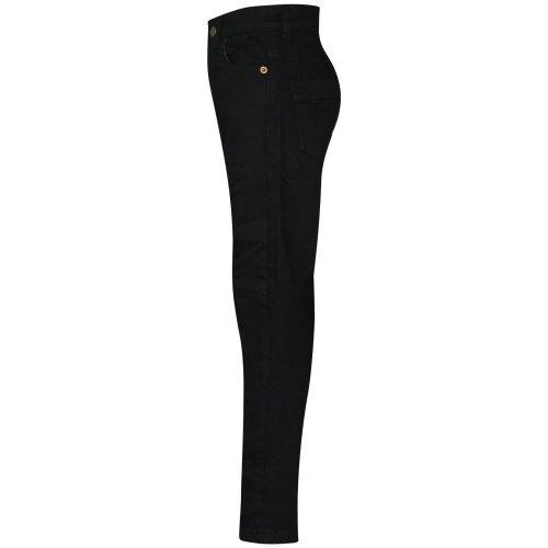 Kids Boys Skinny Jeans Designer Jet Black Denim Stretchy Pants Fit Trouser 5-13Y