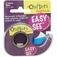 "Lee Products Crafter's Easy See Removable Tape .5""X720""-Blue"
