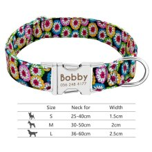 nylon-dog-collar-personalized-pet-collar-engraved-id-tag-nameplate-reflective-for-small-medium-large-dogs-pitbull-pug 011-Red