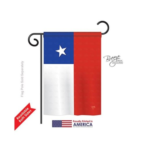 Breeze Decor 58154 Chile 2-Sided Impression Garden Flag - 13 x 18.5 in.
