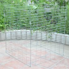 Metal Wire Mesh Compost Bin Garden Composter Converter Eco Recycling Storage Bin