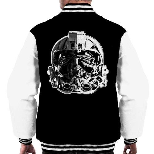 Original Stormtrooper Imperial TIE Pilot Helmet Monochrome Effect Men's Varsity Jacket