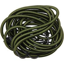 BCB CM031 Green Heavy Duty Elasticated Bungee Cord 1M Pack of 4