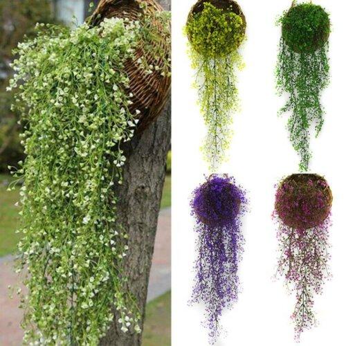 Artificial Fake Wall Hanging Flower Vine Plants Home Garden Decor Indoor Outdoor