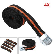25 X 2500MM LONG PACK OF 4 CAM BUCKLE TIE DOWN STRAPS ROOF RACK CARGO TRAILERS