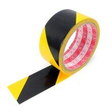 Adhesive Hazard PVC Safety Tape (15yd x 45mm) Black Yellow