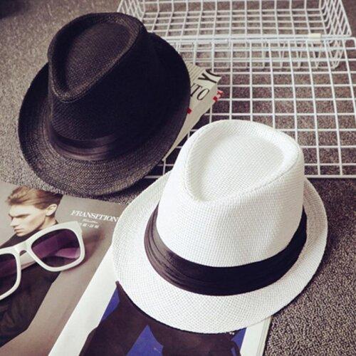 Summer Kids Straw Hat, Outdoor Panama Baby Boy Jazz Cap