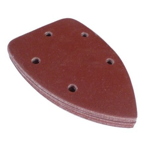 140mm Mouse Corner Sanding Sheets 60 Grit 5 Dust Holes Pack of 10