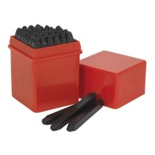 Sealey AK8296 Letter & Number Punch Set 36pc 2.5mm