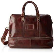 43x34x25 cm - Duffel Leather Bag - Made in Italy