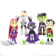 7pcs Teen Titans Figure Toy Collection Model Kids Gift