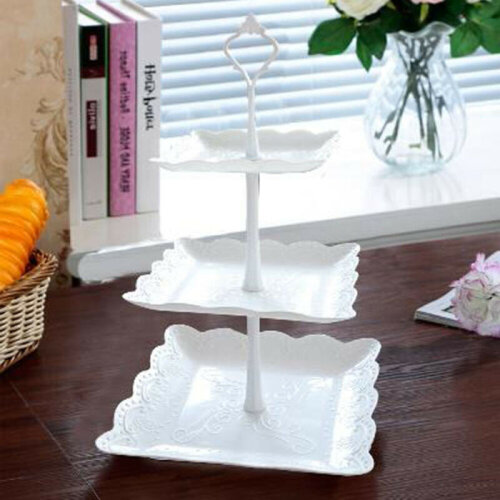 (Square) 3 Tier Cake Stand