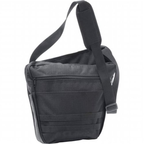 Extreme Pak 13 in. Black Messenger Bag with 2 Interior Compartments