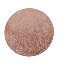 4Pcs Nonslip Round Shape Hollow Heat Insulation Placemat for Hotel Restaurant Rose gold