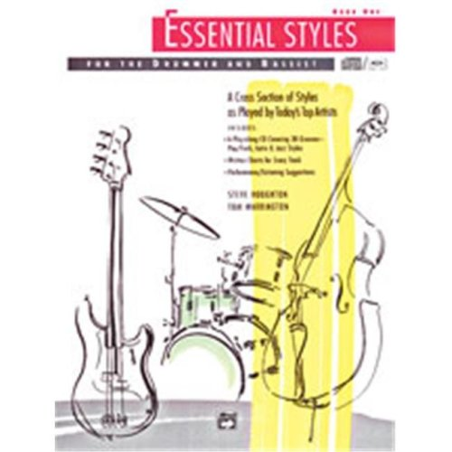 Alfred 00-4300 ESSENTIAL STYLES 1-BK&CD DRUM&BASS