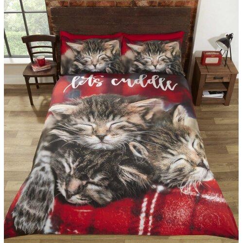 Cuddle Cats Duvet Set Double