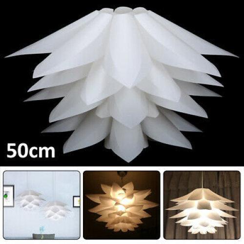 Lotus 50CM DIY IQ Puzzle Jigsaw Pendant Light Shade Ceiling Lampshade