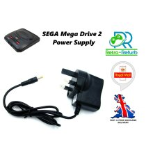 Sega Mega Dive II (2)   Genesis II (2)   Megadrive 2 AC Adapter Power Supply Cord