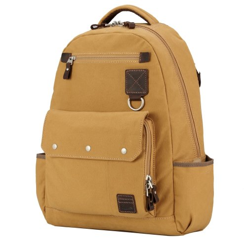 TRP0531 Troop London Heritage Washed Canvas Daypack, Laptop Backpack