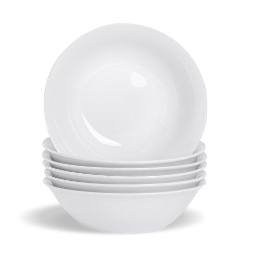 "White Cereal Breakfast Bowls Porcelain Oatmeal Bowl - 18cm (7"") - x6"