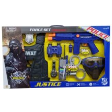 Kids Role Play SWAT Police Set, Vest Toy Gun, Accessories Kids Fun
